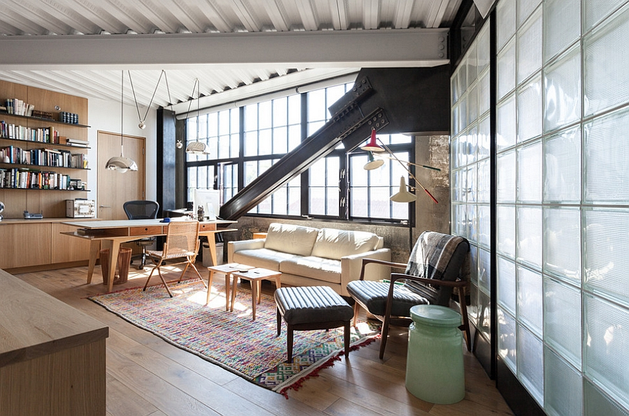 27 ingenious industrial home offices with modern flair for Industrial farmhouse plans