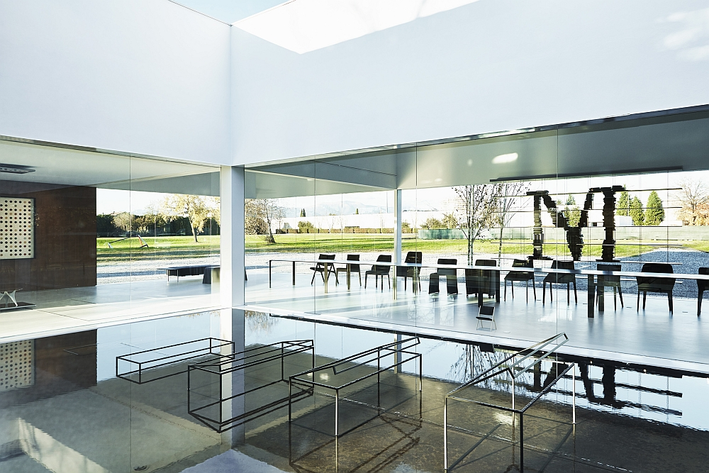 Inspired design of the Glass Cube lets it interact with nature