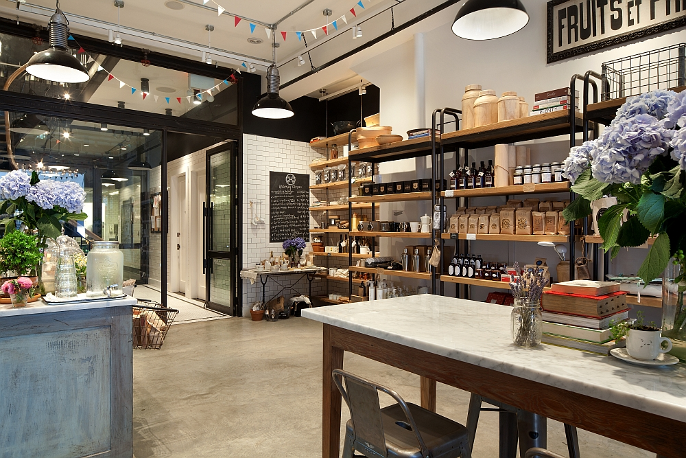 Kitchen Store In House Magnificent Old Nyc Carriage House Renovated Into A Trendy Café Design Ideas