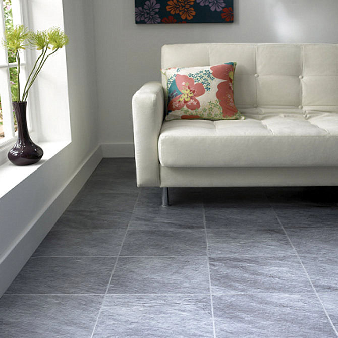 Living room tile flooring