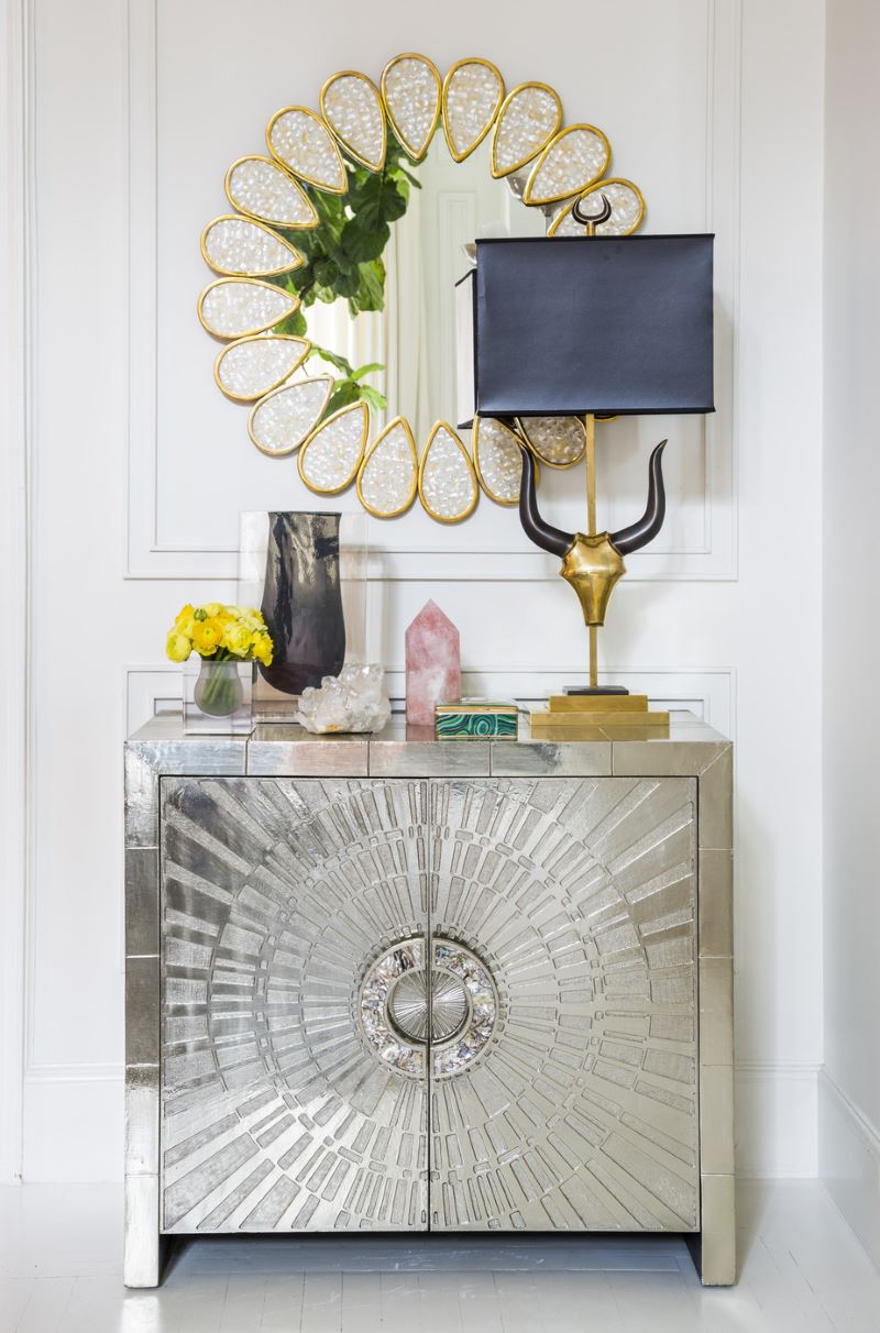 Foyer Mirror Designs : Small entryway designs with larger than life appeal