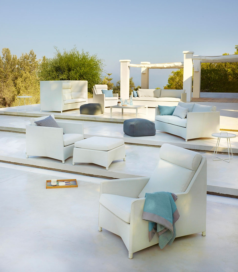 Luxurious Daimond outdoor seating collection in white