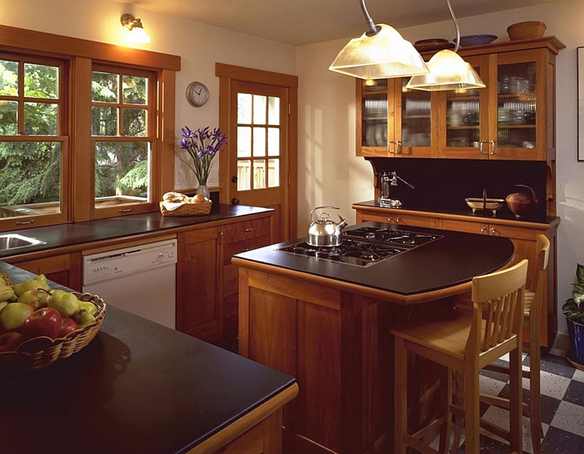 ... Make Sure You Have Enough Room To Work Around The Tiny Kitchen Island  [Design: