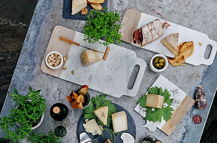 Marble and wood cheese boards from Williams-Sonoma
