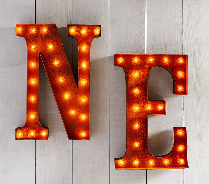 Marquee letters for a child's room