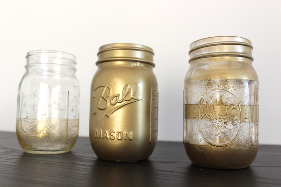 Mason-Jars-Spray-Painted-Go