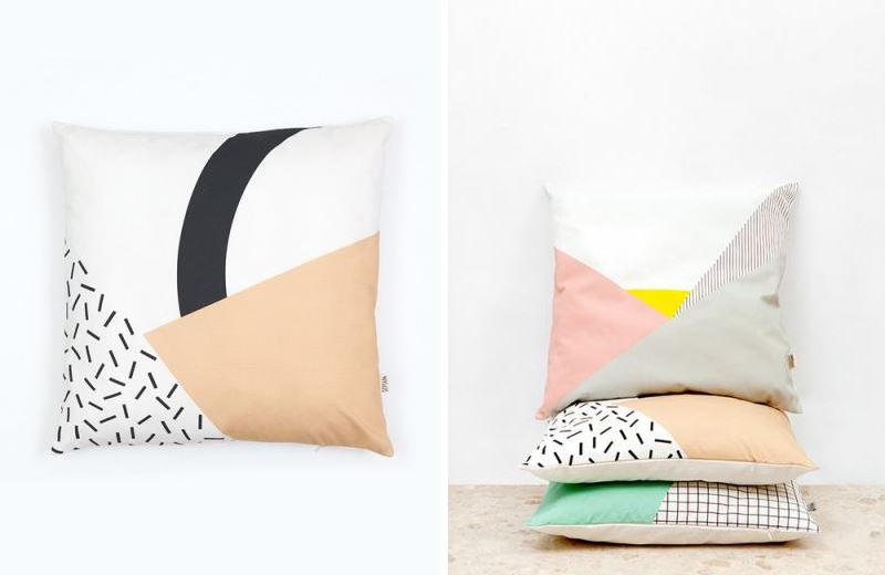 Memphis Cushions by Depeapa from Hello Polly