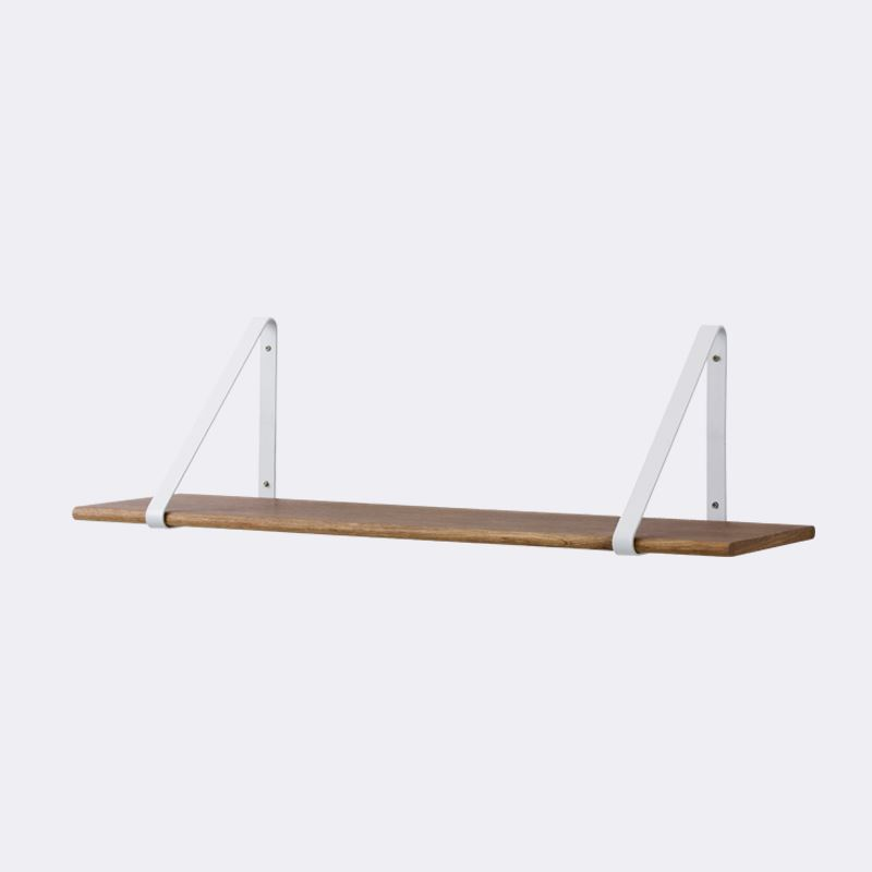 Metal Shelf Hangers in white