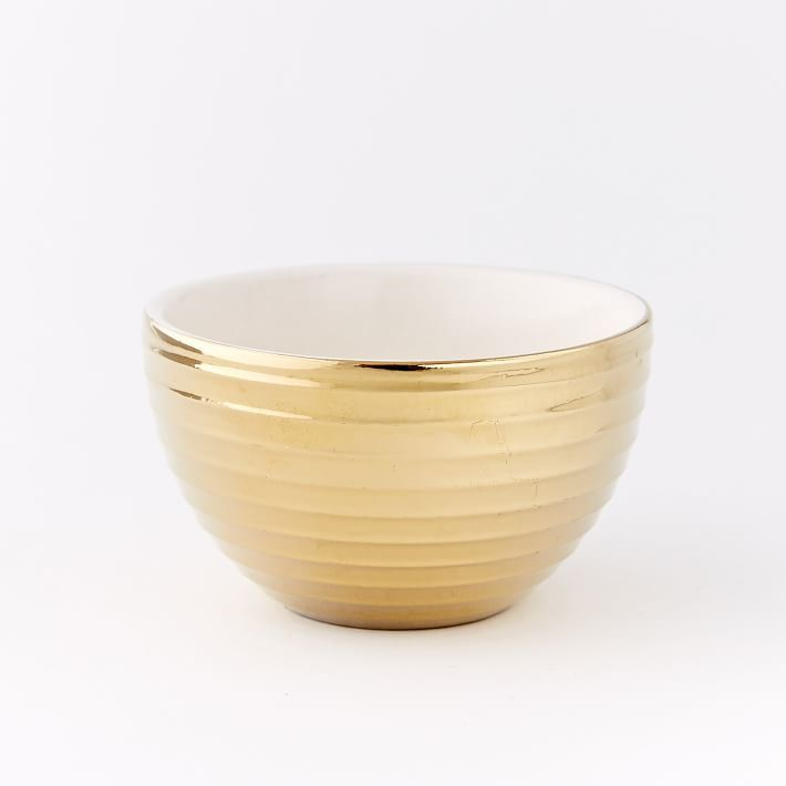 Metallic dip bowls