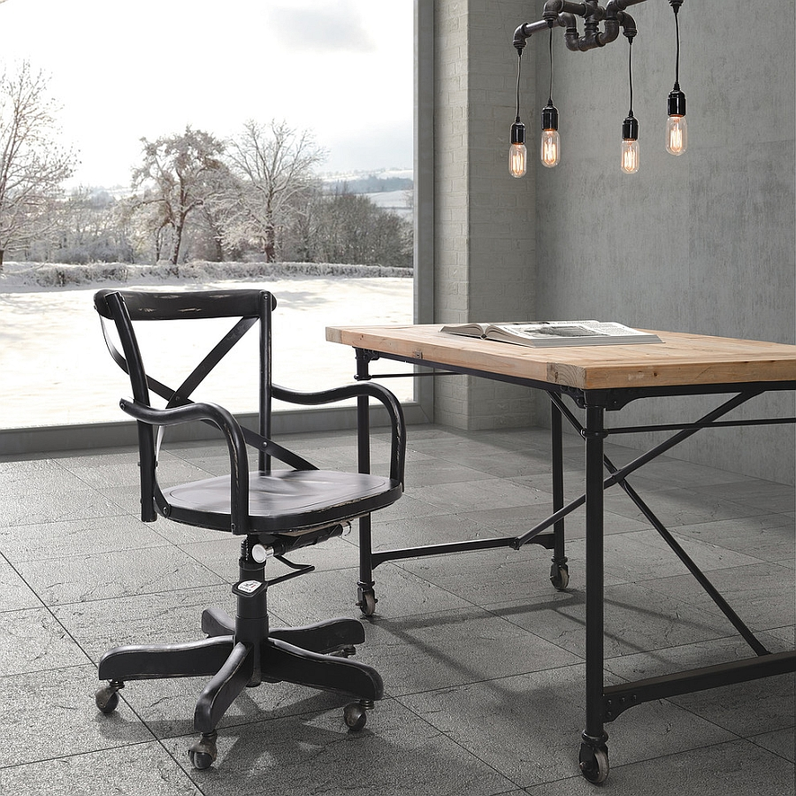 27 ingenious industrial home offices with modern flair for Industrial design chair