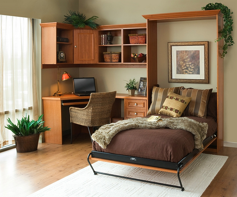 bedroom office ideas.  Murphy bed allows you to switch between bedroom and home office with ease Design 25 Creative Bedroom Workspaces Style Practicality
