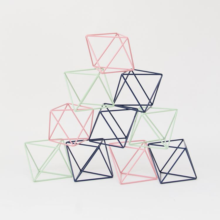 Octahedron decorative objects from Eric Trine