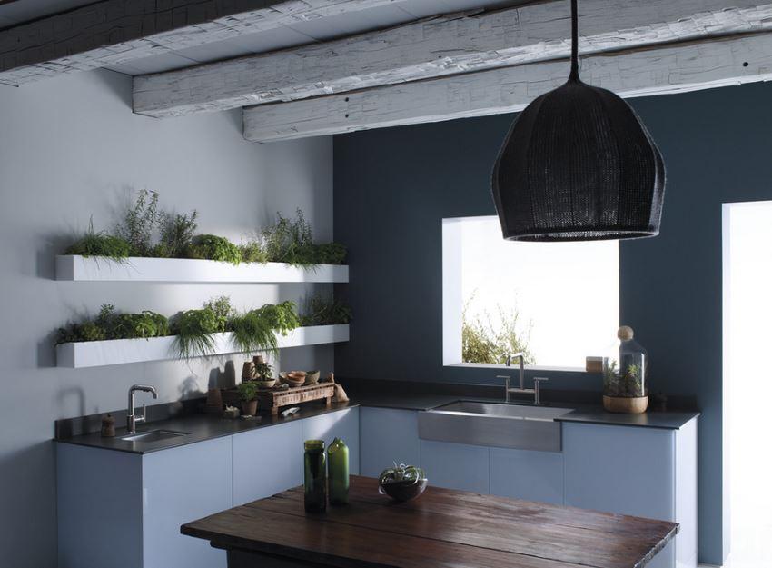 Open shelving meets plant life