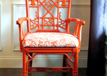 Orange Chinoiserie Chair