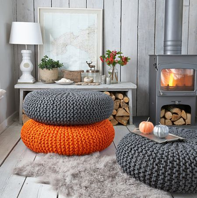 Orange Paired with Grey Pou 9 Techniques for Invigorating Your Home with a Pop of Orange