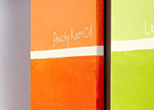Orange Wall Art Pantone