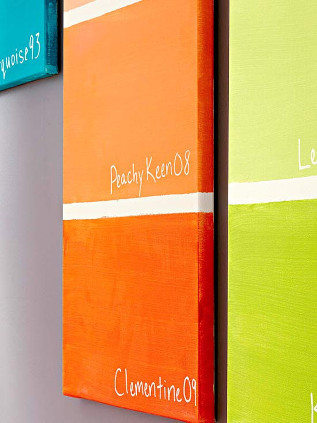 Orange Wall Art Pantone