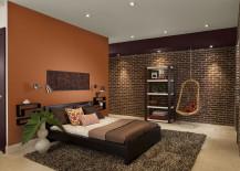 Orange and Brown Bedroom