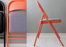 Orange and Chevron Chair DIY