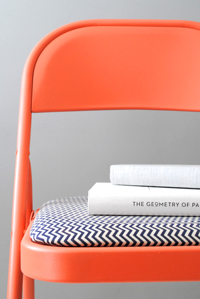 Orange and Chevron Chair