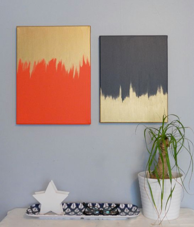 Orange and Gold Wall Art
