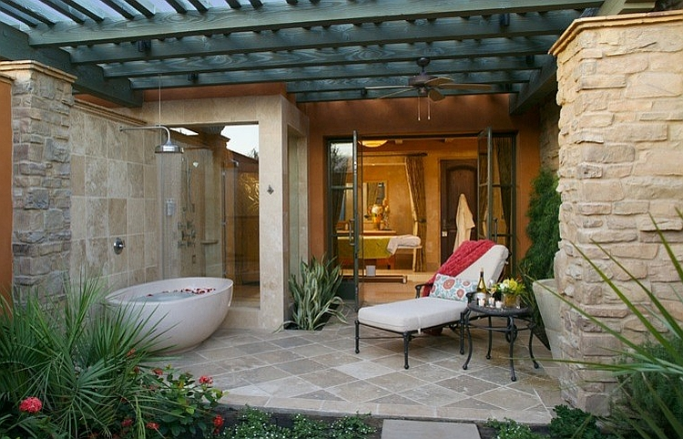 23 Amazing Inspirations that Take the Bathroom Outdoors – Outdoor Bathroom