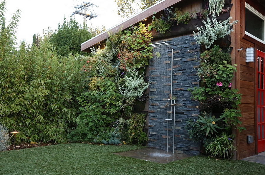 Simple Outdoor Shower Ideas Part - 35: ... Outdoor Shower Area Is Simple And Stylish [Design: Terra Rubina]