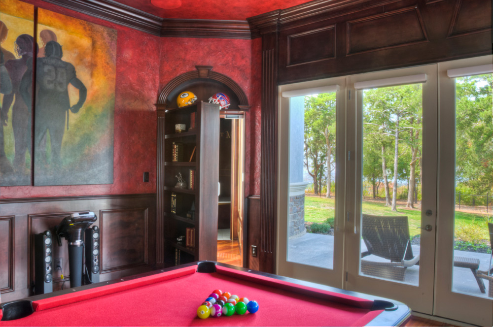 Pool Room with Hidden Door