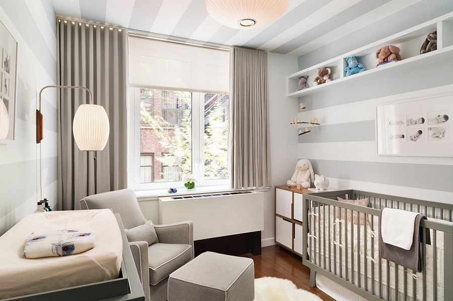 Posh nursery in white and gray [Design: m monroe design]