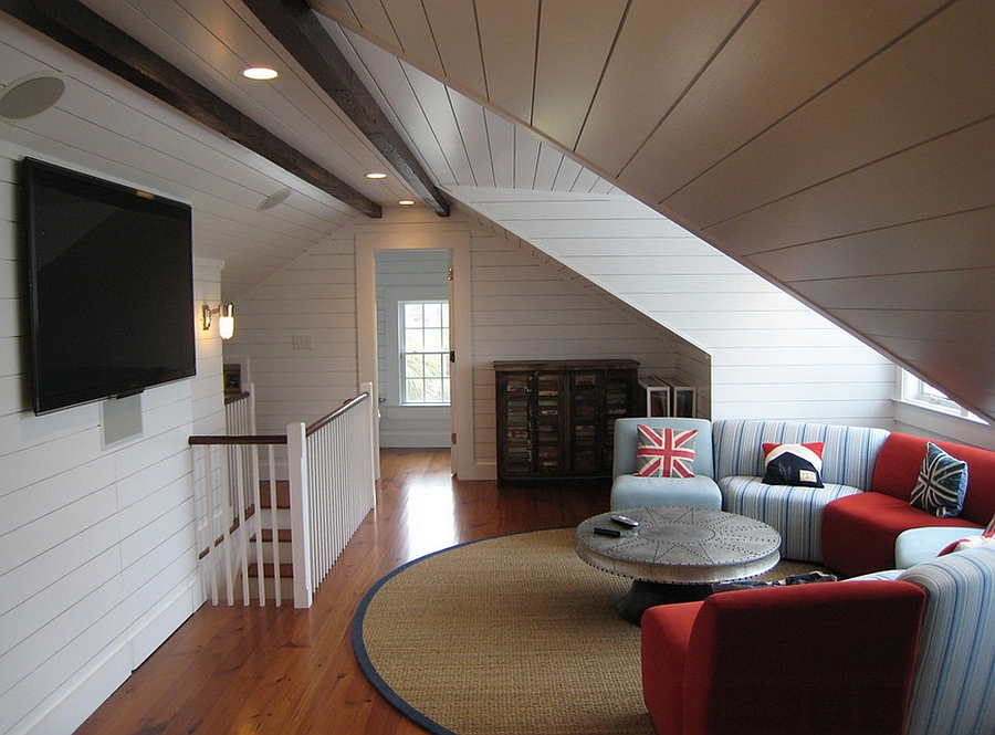 Practical attic living space design with ample ventilation