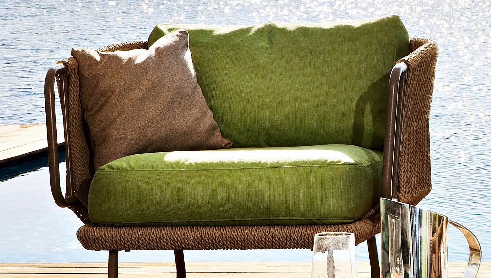 Rattan-like trim of the gorgeous Babylon Chair