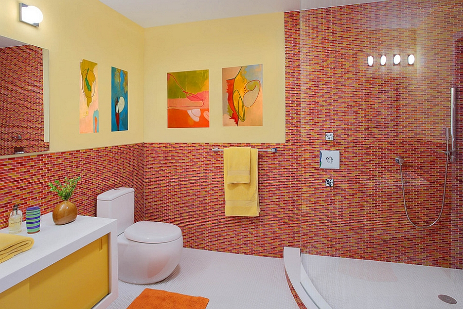 21 sensational bathrooms with the ravishing flair of red - Salle de bain enfant ...