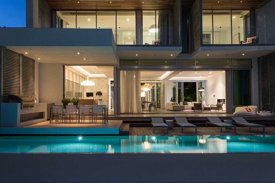 Refreshing pool area and deck space of the Peribere Residence
