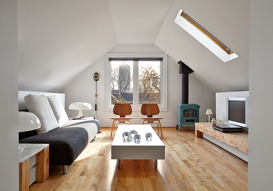 Scandinavian minimalism at its beautiful best in the transformed attic [Design: TACT Design]