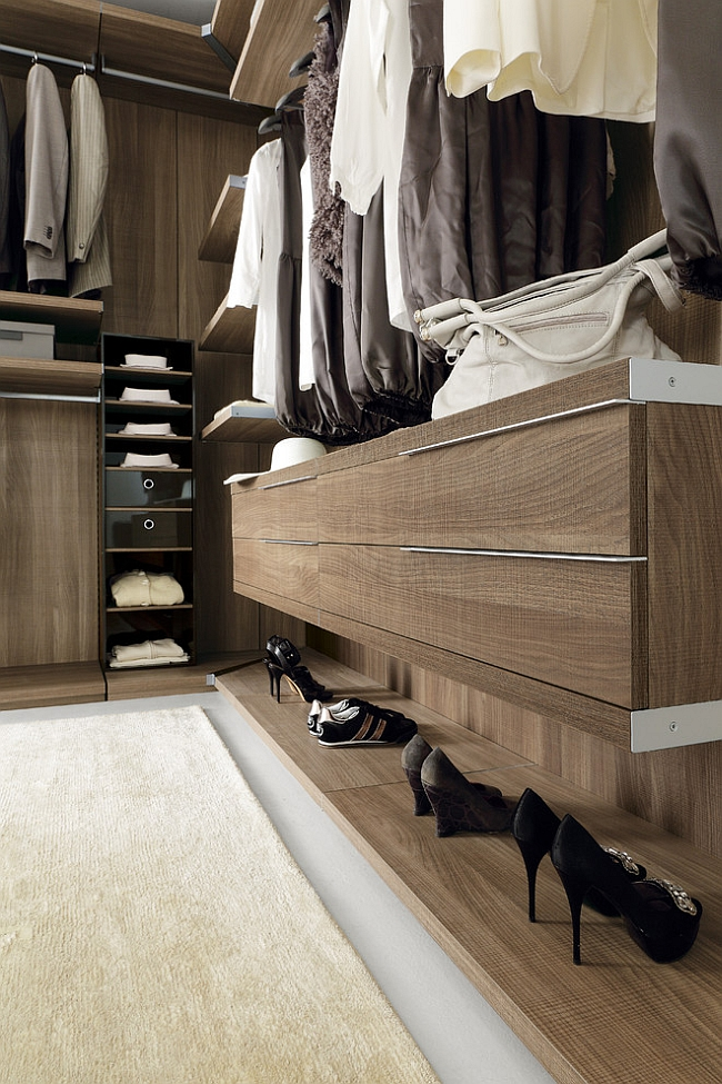 View In Gallery Simple And Stylish Organizational Solution For The Modern Walk Closet