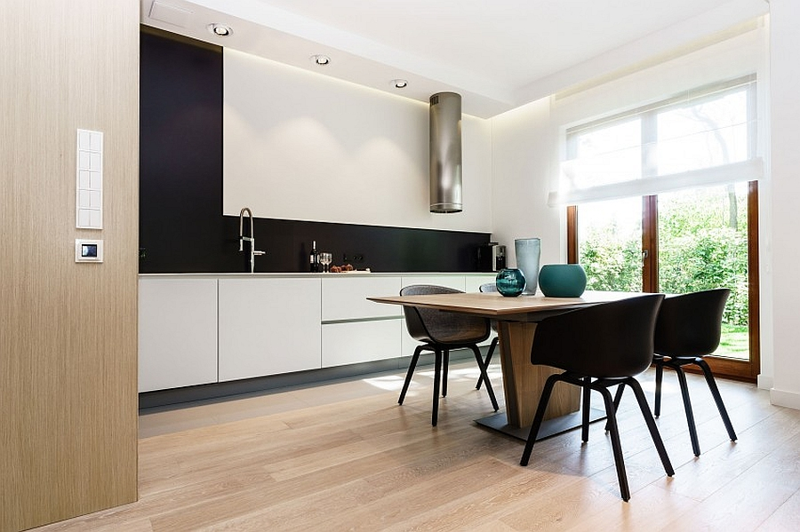 Simple kitchen and dining area with minimalist style