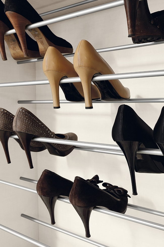 Sleek shoe racks to complete your walk-in wardrobe