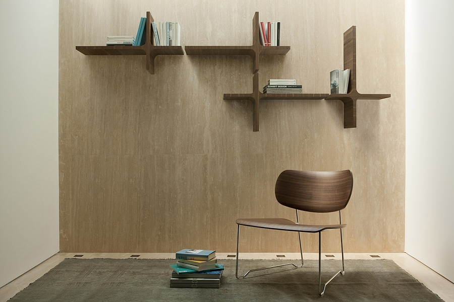 Sleek wall mounted bookshelves are ideal for the small modern home 5 Trendy Modern Bookshelves That Unleash Warmth Of Wood!