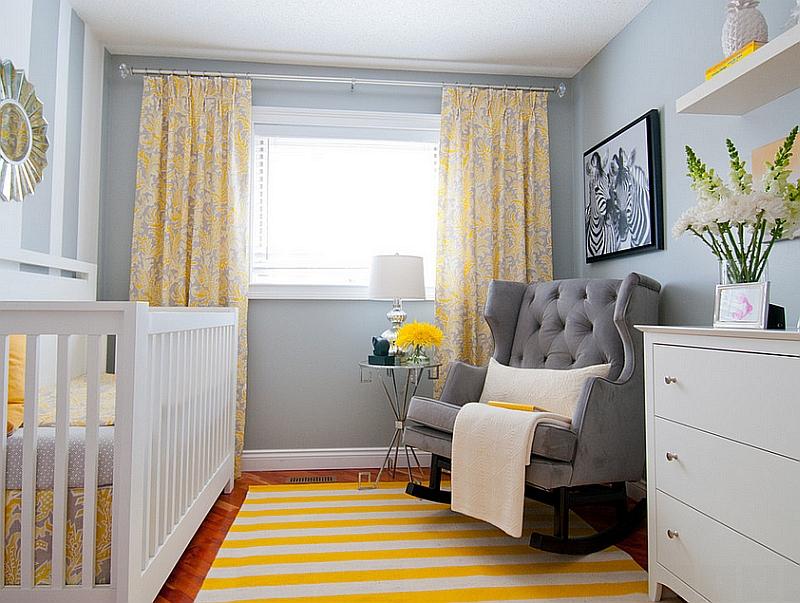 Small, cozy nursery design idea [Design: Alykhan Velji Design]