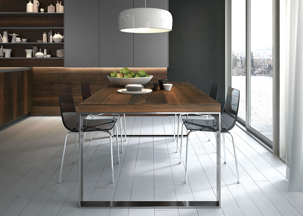 Posh kitchen compositions fuse modularity with minimal aesthetics - Table cuisine moderne ...
