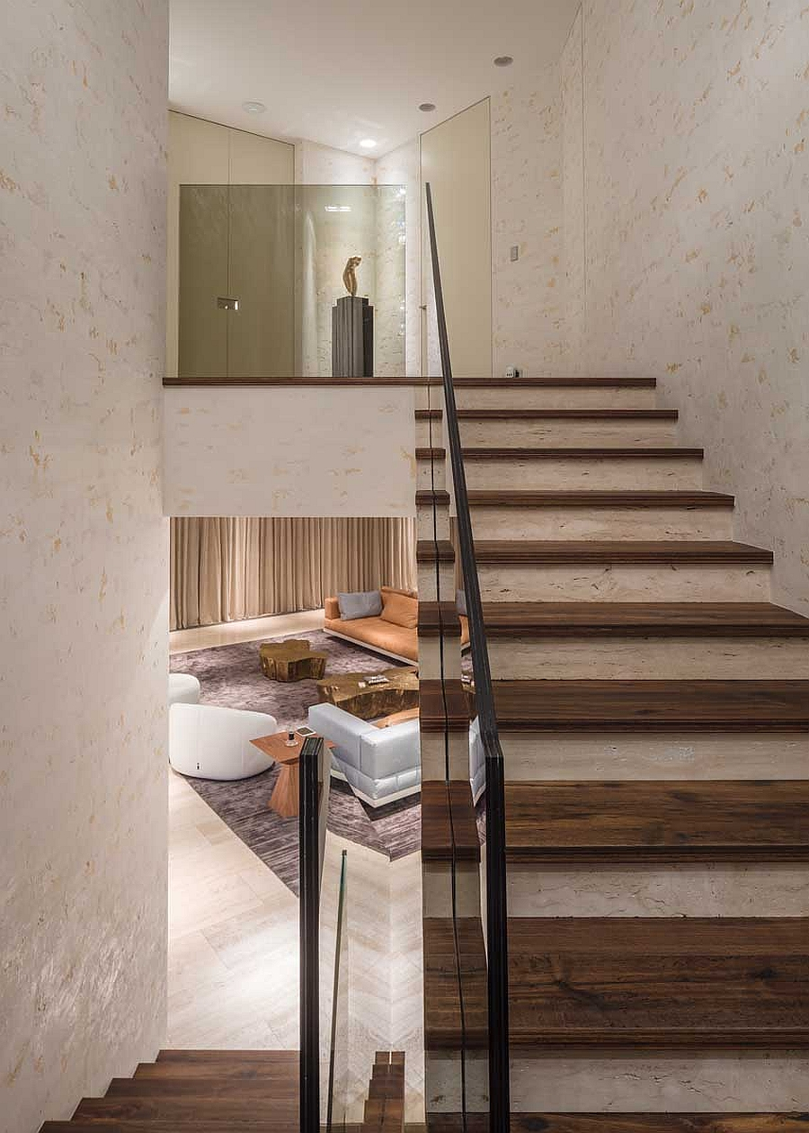 Smart and stylish staircase design for contemporary home