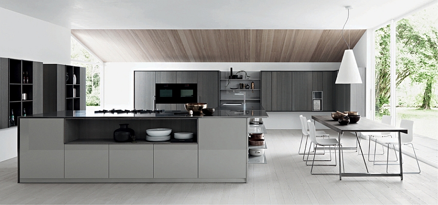 Smart kitchen with space saving design solutions Kalea: Posh Modern Kitchen Offers Versatile Design Solutions
