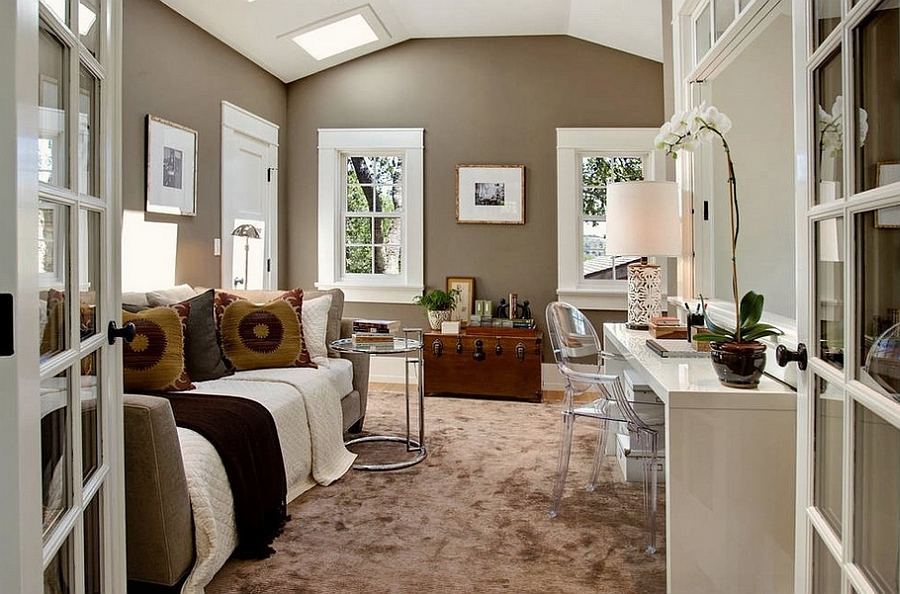 Incredible 25 Creative Bedroom Workspaces With Style And Practicality Largest Home Design Picture Inspirations Pitcheantrous