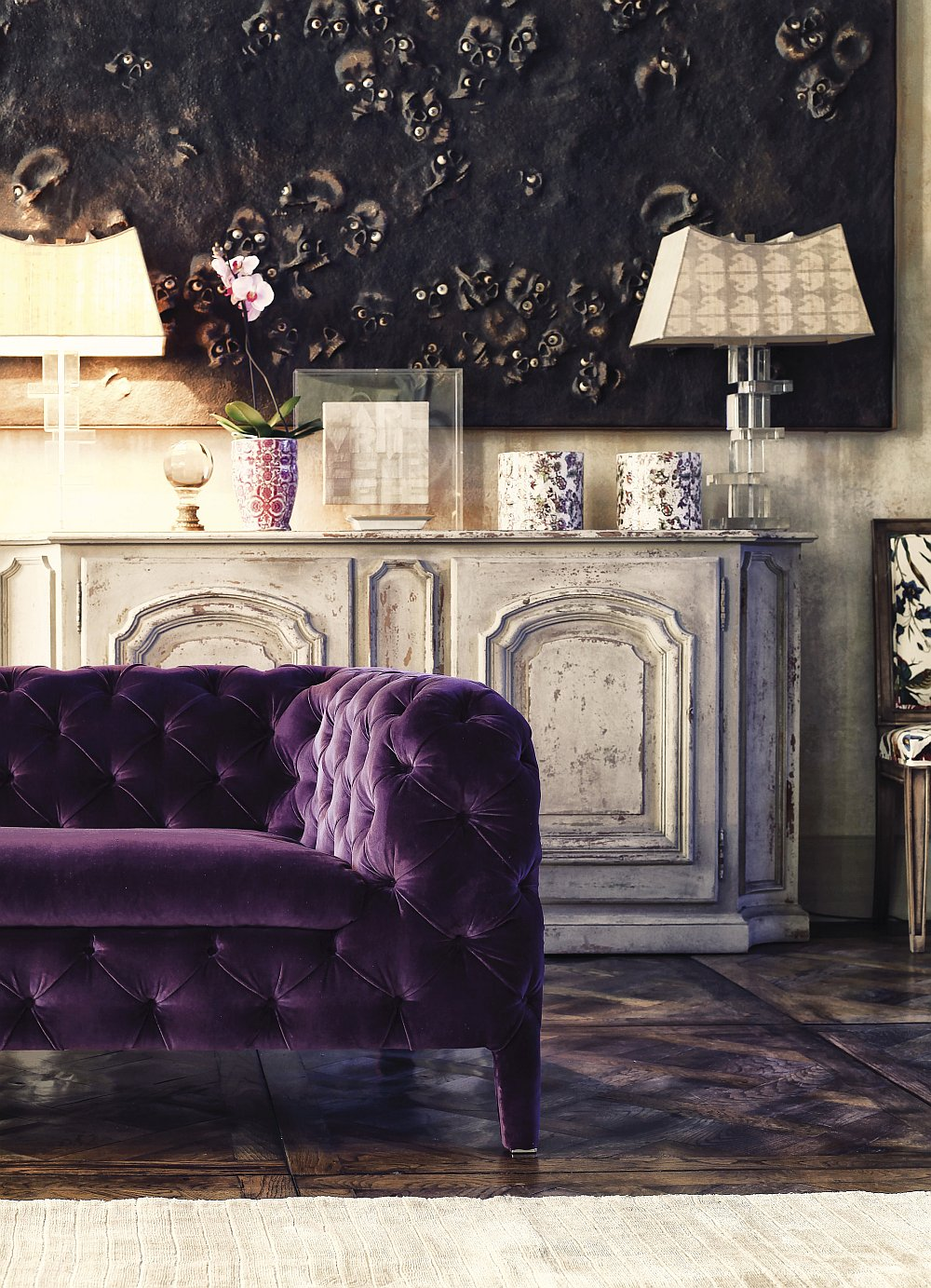 Sophisticated Windsor couch crafted exclusively by hand