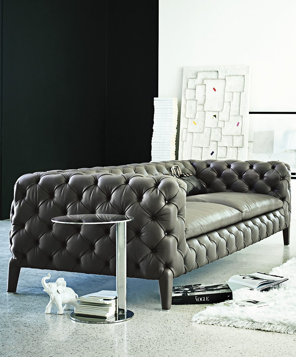 Sophisticated handmade contemporary sofa with Italian design