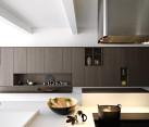 Sophisticated modern kitchen in dark tones