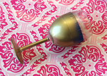 Spray Paint Wine Glass in Gold