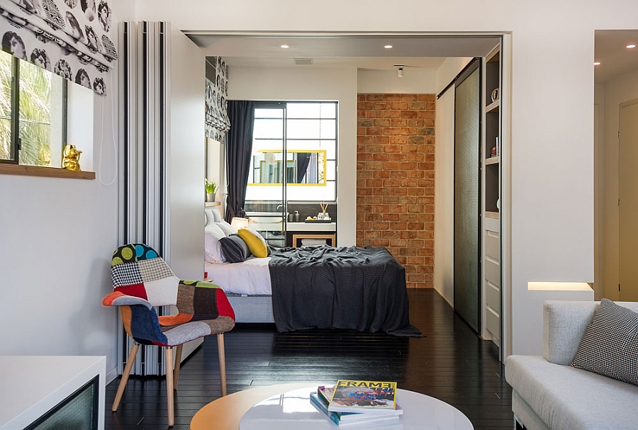 Smart modern renovation transforms small urban apartment for Small bedroom renovation