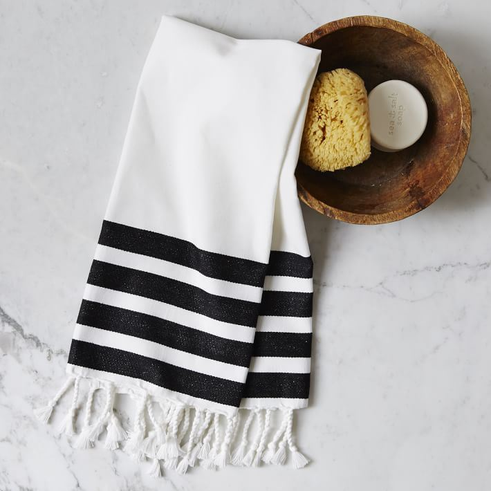 Striped hand towel from West Elm