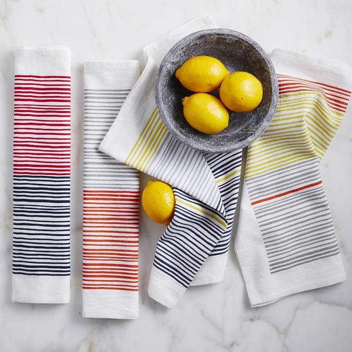 Striped tea towels from West Elm